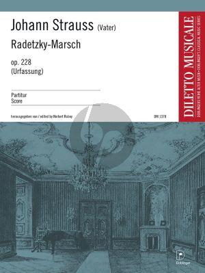 Strauss Radetzky Marsch Op.228 Orchester (Urfassung) Partitur (Norbert Rubey)
