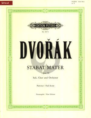 Dvorak Stabat Mater Opus 58 Soli-Chor-Orchester (Partitur) (Reinhold Kubik)