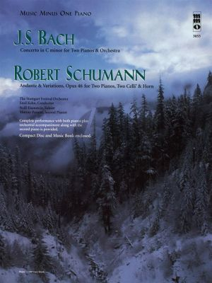 J.S. Bach Concerto c-minor 2 Pianos-Orchestra with R. Schumann Andante & Variations Op.46 2 Pianos, 2 Cellos-Horn) (Bk-Cd) (MMO)