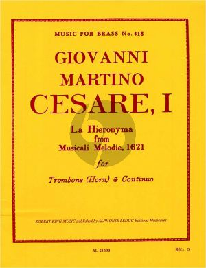 Cesare La Hieronyama (from Musicali Melodie 1621) (Trombone and Organ)