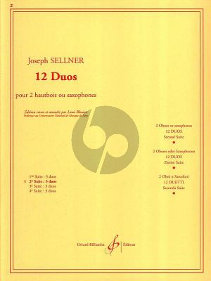 Sellner 12 Duos Vol.2 (No.4-6) 2 Oboes or Saxophones (Louis Bleuzet) (Moyen-Superieur)