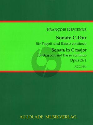 Devienne 6 Sonaten Op.24 No.1 C-dur Fagott-Bc (Jörg Dähler)