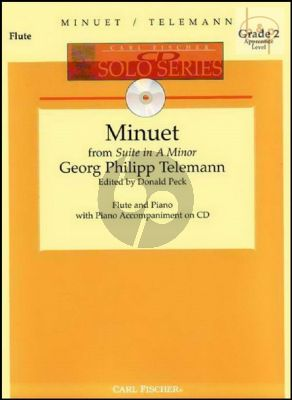 Minuet (from Suite a-minor) (Flute-Piano) (Bk-Cd)