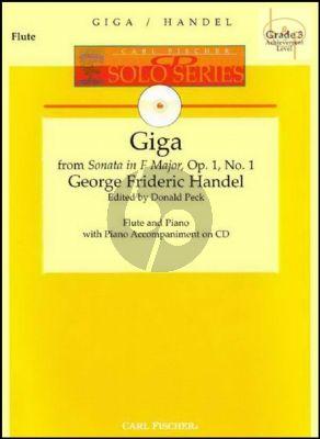 Giga (from Sonata Op.1 No.1) (Flute-Piano) (Bk-Cd)