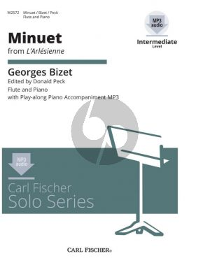 Bizet Minuet (from L'Arlesienne) Flute-Piano Book with Audio Online (edited by Donald Peck) (Grade 3)