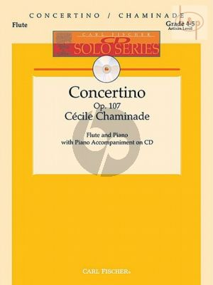 Chaminade Concertino (Flute) (Solopart-CD with Piano Acc.)