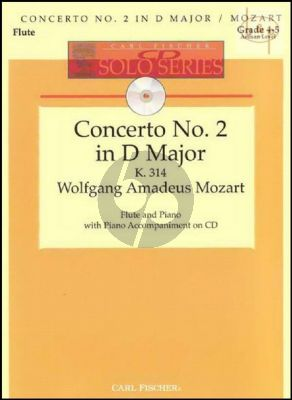 Concerto No.2 D-major KV 314 (Flute-Piano) (Bk-Audio-online) (edited by Donald Peck)