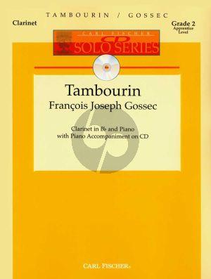 Gossec Tambourin Clarinet-Piano (Bk-CD) (edited by Denise Schmidt) (grade 2)