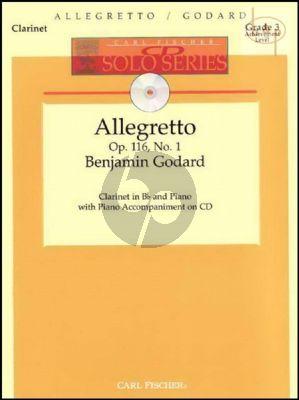 Allegretto Op.116 No.1 (Clarinet-Piano) (Bk-Cd)