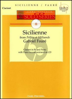 Sicilienne (from Pelleas et Melisande) (Clarinet-Piano) (Bk-Cd)
