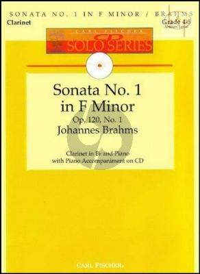 Sonata Op.120 No.1 (Clarinet-Piano) (Bk-Cd) (edited by Denise Schmidt)
