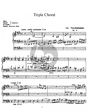 Tournemire Triple Choral Op.41 for Organ