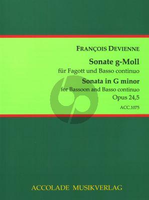 Devienne 6 Sonaten Op.24 No.5 g-moll Fagott-Bc (Jörg Dähler)