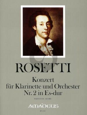 Rosetti Concerto No.2 Es-dur (Murray RWV C63) (Moesus) (Klarinette-Orchester) (Partitur)