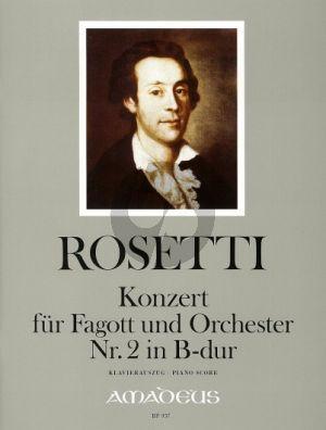 Rosetti Concerto No.2 B-dur (Murray RWV C69) Fagott-Orchester (KA) (Johannes Moesus)