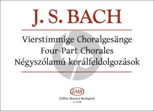 Bach 4 Part Chorales Edited and published by Sulyok Imre