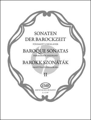 Album Baroque Sonatas (Sonaten der Barockzeit) Vol.2 for Bassoon and Piano (Hara-Nagy)