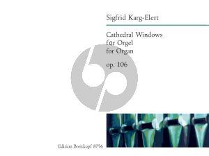 Karg-Elert Cathedral Windows Op.106 Organ (6 Pieces on Gregorian Tunes) (Ludwig)
