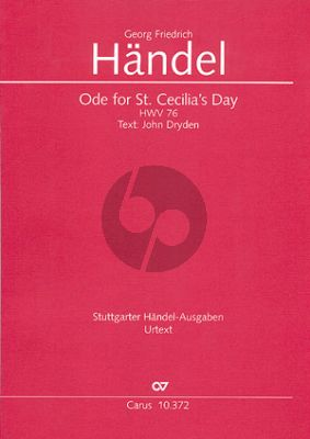 Handel Ode for St.Caecilia's Day HWV 76 (Full Score) (Christine Martin)