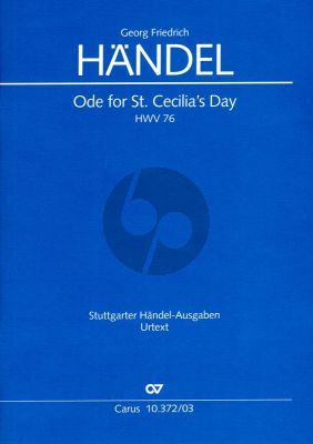 Handel Ode for St.Cecilia's Day HWV 76 (Vocal Score) (edited by Paul Horn)