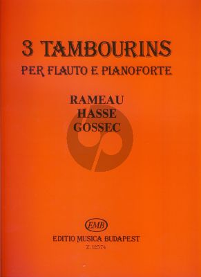 Album 3 Tambourins Rameau Hasse Gossec Flute and Piano