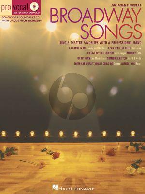 Broadway Songs for Female Singers (Bk-Cd)