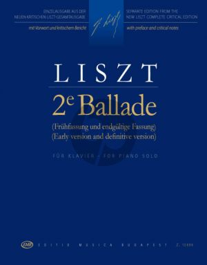 Liszt Ballade No.2 for Piano (Early version and definitive version)