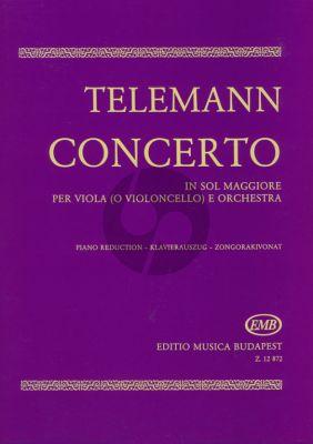 Telemann Concerto G-major Viola (or Violoncello)-Piano (Olivér Nagy)