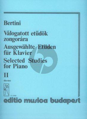 Bertini Selected Studies Vol.2 Piano (Gábor Kováts)