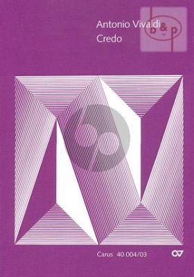 Vivaldi Credo RV 591 SATB-2 Vi.-Va.-Bc. Vocal Score (lat./engl.)