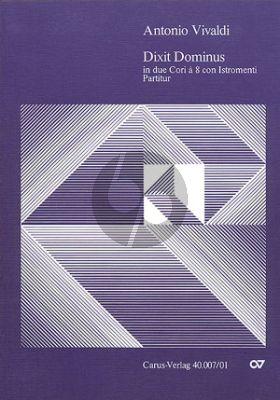 Dixit Dominus RV 594 Soli-Chor-Orch. Klavierauszug