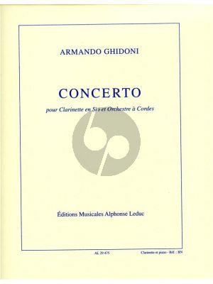 Ghidoni Concerto Clarinette et Orchestre a Cordes (piano reduction)