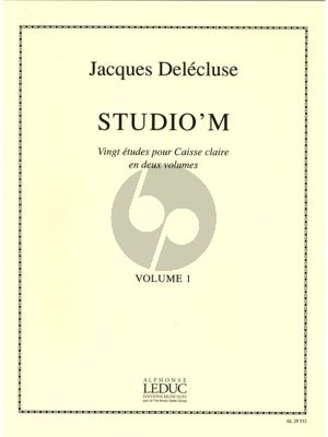 Delecuse Studio 'M Vol.1 (20 Etudes Caisse Claire)