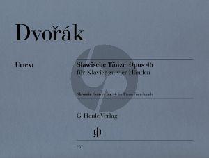 Dvorak Slawische Tanze Op.46 Klavier 4 Hd.