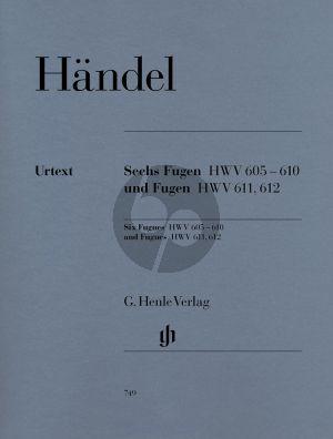 Handel 6 Fugen (HWV 605 - 610) & Fugen (HWV 611 - 612) (Scheideler/Schneidt) (Henle-Urtext)