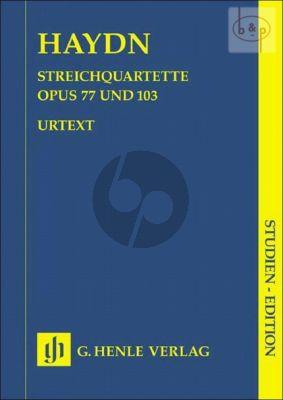 Streichquartette Vol.10 Op.77 und Op.103