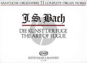 Bach Organ Works Vol.11 Die Kunst der Fuge Edited by Zaszkaliczky Tamas