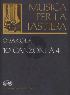 Bariola 10 Canzoni a 4 Harpsichord (Musica per la Tastiera) (Katalin Fittler)
