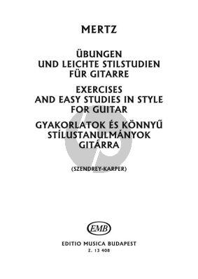 Mertz Exercises and Studies in Style for Guitar (edited by Szendrey-Karper)