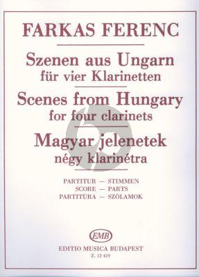Farkas Scenes from Hungary 4 Clarinets (Score/Parts)