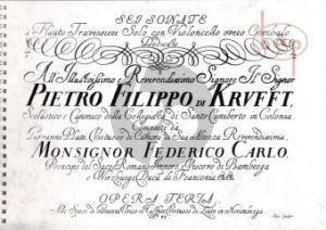6 Sonate Op.3 (Flauto solo con Violonc. overo Cembalo)
