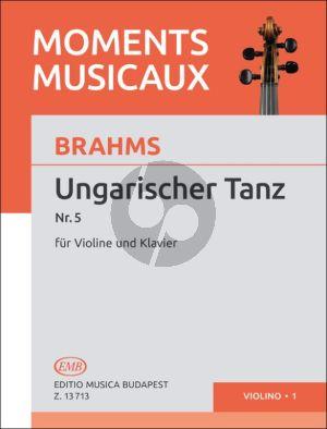 Brahms Hungarian Dance No.5 Violin and Piano (Györgyi Repassy)