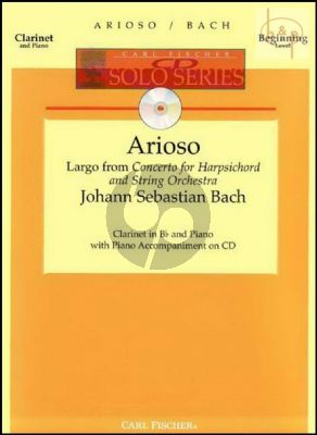 Arioso (Largo from Harpsichord Conc. BWV 1056) (Clarinet-Piano) (Bk-Cd)
