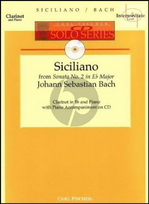 Siciliano (from Sonata BWV 1031) (Clar.-Piano) (Bk-Cd)