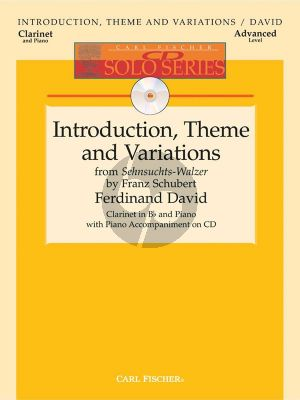 David ntroduction-Theme & Variations (from Sehnsuchts-Walzer by Schubert) (Clar.-Piano) (Bk-Cd)