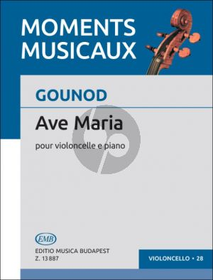 Gounod Ave Maria Violoncello and Piano (edited by Árpád Pejtsik)