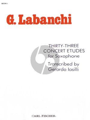Labanchi 33 Concert Etudes for Saxophone Book 1 (transcr. by Gerardo Iasilli)