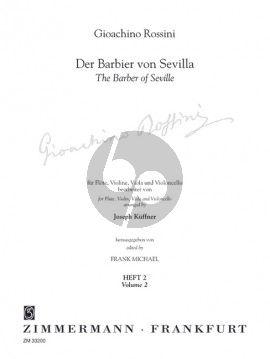 Der Barbier von Sevilla Vol.2 Flöte-Violine-Viola und Violoncello