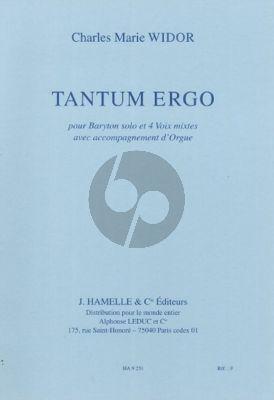 Widor Tantum Ergo Baritone solo-SATB-Organ