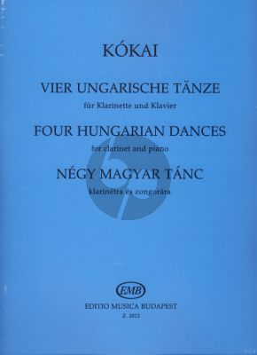 4 Hungarian Dances for Clarinet and Piano